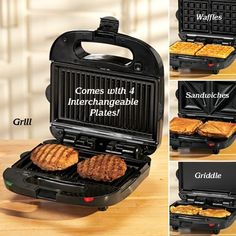 4-in-one grill. And removable plates for easy cleaning. If only I didn't have a George Forman :(