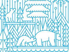 Joellewall polarbear illustration