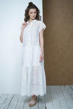 9157bfbea6c Женское свободное летнее платье белого цвета