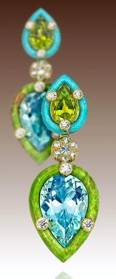 raspberry mojito         Splenderosa Designer Earrings   very elegant, very summery     Vermeil Earw...