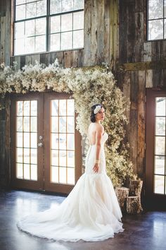 Vintage Bridal Portraits at Vista West Ranch. The baby's breath is amazing! by Expose the Heart Photography