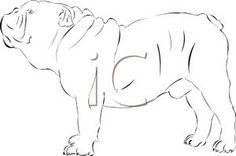 Black and White Bulldog Standing - Royalty Free Clipart Picture Bulldog Clipart, White Bulldog, Royalty Free Clipart, English Bulldogs, Clip Art, Black And White, Pictures, Photos, Black N White