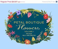 Petal Boutique Flower & Leaf Clip Art - Blog Graphics - Instant Download - Graphics perfect for Scrapbooking or Embellishing your Blog or Website, https://www.etsy.com/listing/189558365