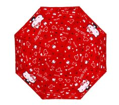 Hello Kitty Umbrella 3 Fold Automatic Auto Button Woman Lady Child Girl Red