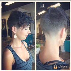 Wanna take a look at the latest pixie cut ideas for this season? Here we have collected the pics of Best Pixie Hairstyles You Should See, check our. Short Hair Long Bangs, Edgy Short Hair, Short Hair Cuts, Pixie Hairstyles, Pixie Haircut, Cool Hairstyles, Hairstyle Ideas, Bad Hair, Hair Day