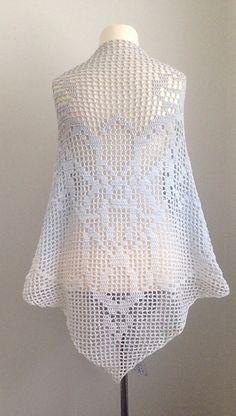 Arwen's Shawl - free filet crochet charted pattern by Jasmin Räsänen.