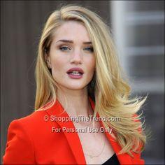 Rosie Huntington-Whiteley hair & make - London Fashion Week Burberry Prorsum AW/13