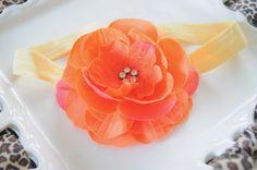 Adorable flower headband.