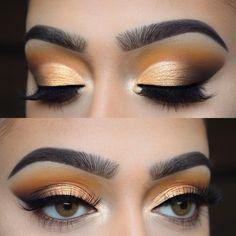 WEBSTA @ chelseasmakeup - Loving these deep yellow tones Eyes: Kiss Makeup, Cute Makeup, Makeup Geek, Makeup Inspo, Makeup Art, Makeup Addict, Makeup Inspiration, Makeup Tips, Beauty Makeup