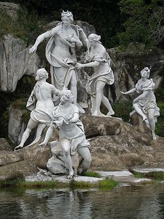 Fontana di Diana e Atteone, Parco della Reggia di Caserta, Campania, Italy