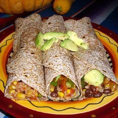 Black Bean, Corn, and Rice Burritos Recipe | Key Ingredient