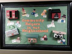 My October community helpers bulletin board!