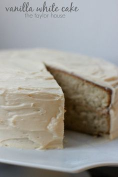 Delicious vanilla white cake recipe!