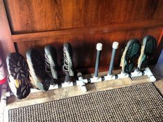 Tree Mural and Shoe Storage : Test fit of new shoe rack