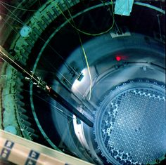 Looking into Columbia Generating Station's reactor core during a refueling outage.