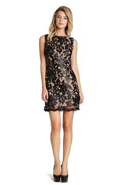 Dress the Population Sequin Lace A Line Dress