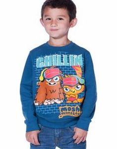 Moshi Monsters Boys Blue Sweatshirt - 9-10 Years A fashionable and comfy piece. your little monster will love this Moshi Monsters inspired sweatshirt. perfect for wearing all day everyday. Available for ages 5-10 years. Composition: 100% cotton. Mac http://www.comparestoreprices.co.uk/childrens-clothes/moshi-monsters-boys-blue-sweatshirt--9-10-years.asp