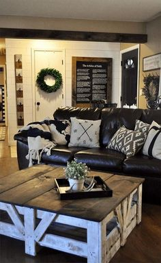 9 Capable Tips AND Tricks: Living Room Remodel Ideas Joanna Gaines small living room remodel floating shelves.Living Room Remodel On A Budget Window Treatments small living room remodel thoughts.Living Room Remodel On A Budget Bedrooms. Diy Farmhouse Coffee Table, Farmhouse Decor Living Room, Farm House Living Room, Home N Decor, Coffee Table Farmhouse, Rustic Living Room Design, Couches Living Room, Living Decor, Rustic House