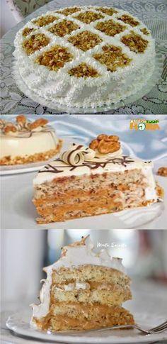 Bolo de Nozes Para Festas #BolodeNozesParaFestas #BolodeNozes #Receitatodahora Cake Cookies, Cupcake Cakes, Cheesecake Cupcakes, Cakes And More, Vanilla Cake, Oreo, Bakery, Food And Drink, Cooking Recipes