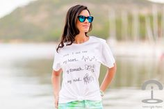 María Jesús Garnica (Crimenes de Moda) with WHEN I SEE YOU t-shirt