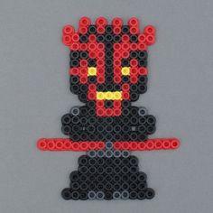 Star Wars Sith Darth Maul Perler Bead Character Magnet by HarmonArt