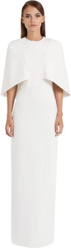 AQ/AQ Cape Structured Shoulder Maxi Dress - Cream