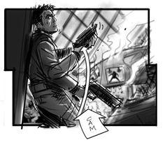 Edge Of Tomorrow storyboard by David Allcock
