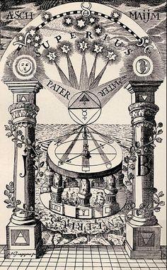 Reproduction of a Freemason-Rosicrucian compass, 1779.