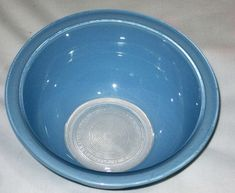 Vintage Corning Pyrex Blue 1 Liter Clear Bottom Mixing Nesting Batter Bowl, 7 x 3 1/2 Inch USA ... (This is an affiliate link) Mixing Bowls, Pyrex, Nest, Link, Tableware, Blue, Vintage, Serving Bowls, Nest Box