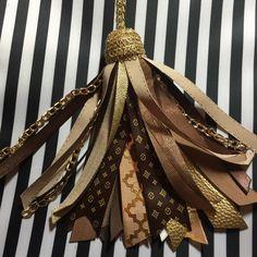 She's been Revamped! See the Luxury Louis Vuitton inspired planner tassel agenda purse charm Kikki K Filo Happy Planner Plum ECLP