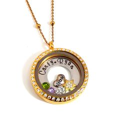 Floating Locket Personalized Charm Necklace for by CharmedUp