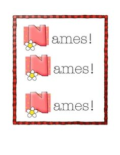 Activities, printables, games, chants for learning names. Great for the first weeks of school, camp, or for get to know you activities....