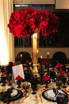 Revelry Event Designers - Page 2 of 64 - Revelry Event Designers Party Centerpieces, Reception Decorations, Event Decor, Centrepieces, Gothic Wedding, Red Wedding, Wedding Reception, Event Planning, Wedding Planning