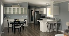 Maintenance-Free Vinyl Siding Architectural Fibreglass Shingles Coach Lights at all Exterior Doors Rangehood with Two Speeds & Light S/S Double-Bowl Kitchen Sink Cathedrial Ceiling in Living Room, Kitchen and Dining Area Designer Light & Hardware Package High-Efficiency A/C Ready