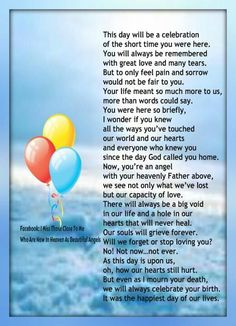 Happy Birthday in Heaven Abagail. You would have been 11 years old May I love and miss you very much! Grandson Birthday Quotes, Birthday Poems, Happy 40th Birthday, Sons Birthday, Missing My Son, I Love My Son, Birthday Wishes In Heaven, In Loving Memory Quotes, Son Poems
