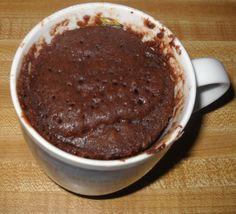 Single serving cake in a mug