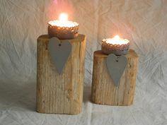 --HEART--Treibholz Teelichthalter von Zen-Art auf DaWanda.com