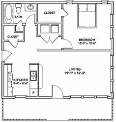 Home Renovation, jaw dropping and elegant pin reference 8270450679 - No fuss yet resourceful room makeover information. The Plan, How To Plan, 1 Bedroom House Plans, Small House Floor Plans, Studio Floor Plans, Apartment Floor Plans, Small Apartment Plans, Small House Decorating, 1 Bedroom Apartment