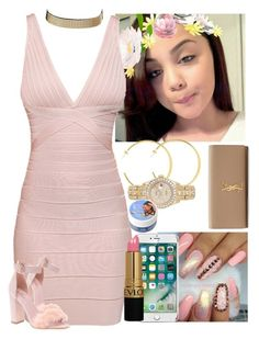 """""""✨✨✨"""" by melaninmonroee ❤ liked on Polyvore featuring Hervé Léger, Revlon, Rolex, LOTTA, Yves Saint Laurent and Charlotte Russe"""