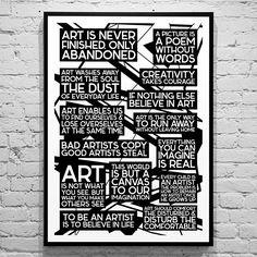 citater om kunst Plakat