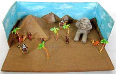 ancient egypt diorama. We could make this. . .