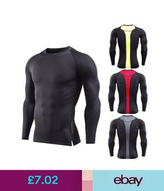 e24c06a3e4f Activewear Mens Long Sleeve Skin Tight T Shirt Gym Workout Basketball  Runing Quick Dry Tops