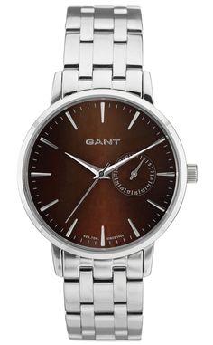 Elegant Gant ur til kvinder i stål - Gant Park Hill II MID Brown Metal - W10923