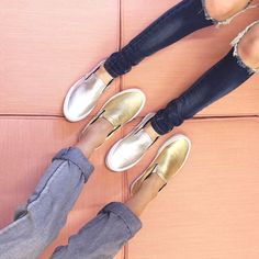 We don't do basic, but we're all about a classic (with a twist) like these Vans Classic Slip-On in Metallic.