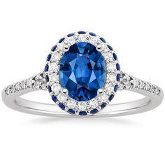 #Capri #Jewelers #Arizona ~ www.caprijewelersaz.com ♥ 18K White Gold Sapphire Circa Diamond Ring with Sapphire Accents