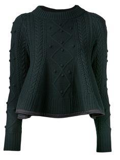 Sacai Удача баски вязать свитер