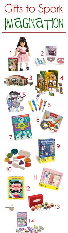 This year I'm looking to buy Christmas gifts for my kids that spark their imaginations. Gifts that encourage creativity and pretend play. Gifts like these . . .