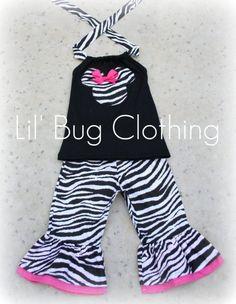 Custom Boutique Clothing Disney Zebra Minnie by LilBugsClothing, $39.99
