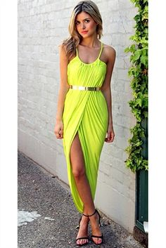 lime green dress...belt not included...110.00...belt sold separately