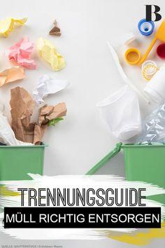 Müll richtig trennen – ein Trennungsguide. Müll richtig trennen ist wichtig, aber gar nicht so einfach wie gedacht. Sieben crazy Abfall-Facts, die euch zum Sortier-Champ machen. #müll #haushalt #entsorgen #trennung Tricks, Wonderland, Desserts, Simple, Food Packaging, Upcycling, Breaking Up, Household, Tailgate Desserts